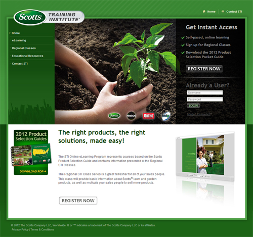 Scotts 2012 Elearning site
